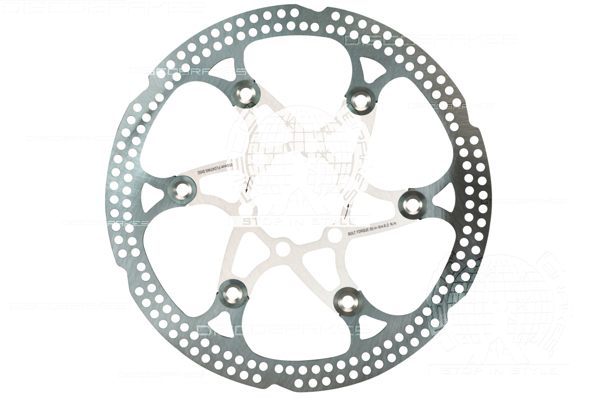 Fits 6 Bolt IS Hub Stainless 8 Colours 203mm 8 inch Floating Disc Brake Rotor