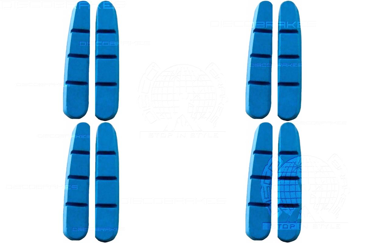 4 Pairs 8Pads Ceramic Rim Pads for Shimano Dura Ace Ultegra Road Brake Shoes